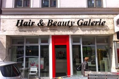 Aussenwerbung Hair & Beauty Galerie - Einzelbuchstaben hinterleuchtet