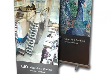 Digitaldruck RollUp Giessecke&Devrient