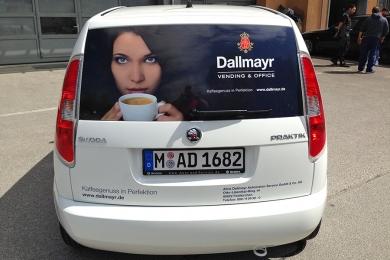 Folienbeklebung Dallmayr PKW