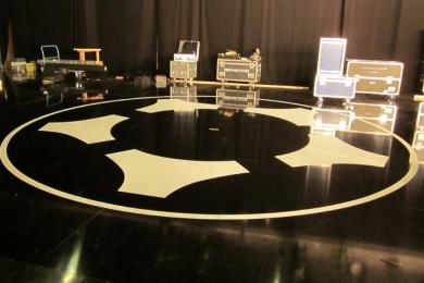 Folienmontage Fernsehstudio