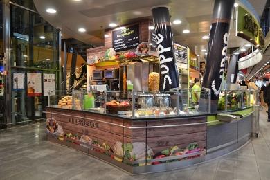 POS SHOP DESIGN Rubenbauer Pizza Hauptbahnhof München